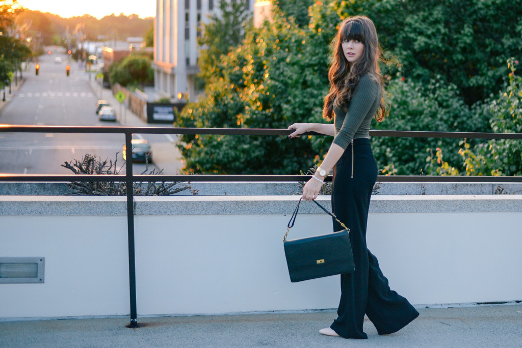 black wide leg trousers fashion blog