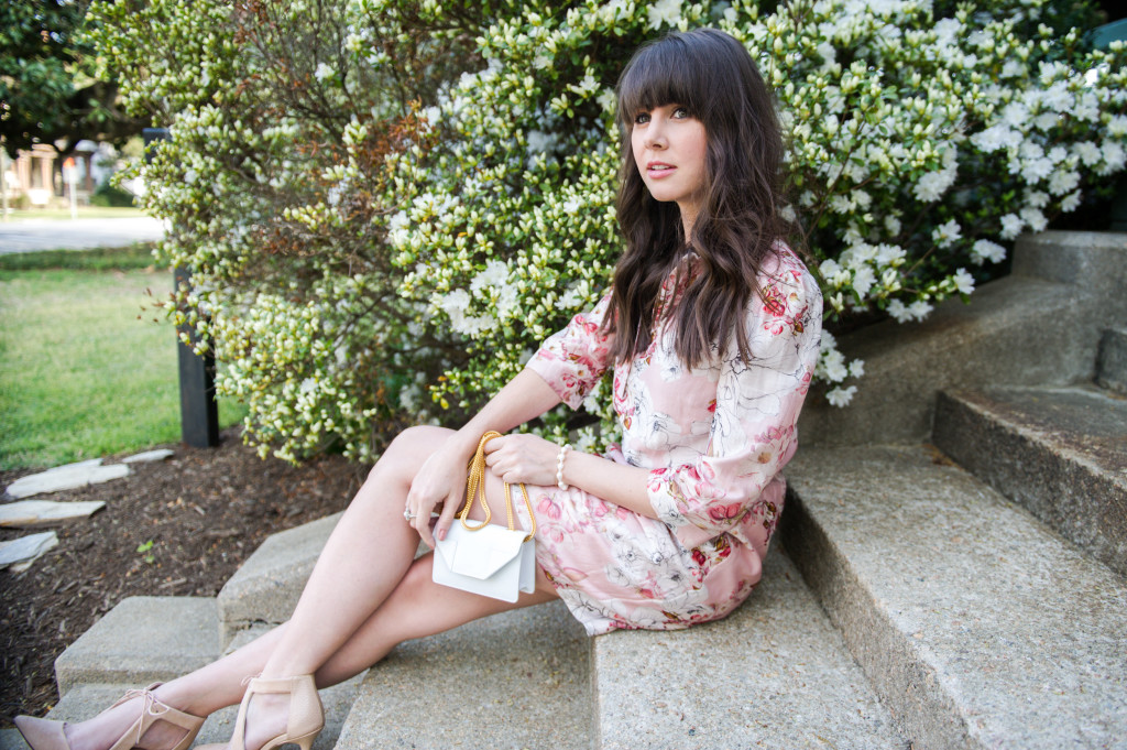 anthropologie floral shirtdress spring-2