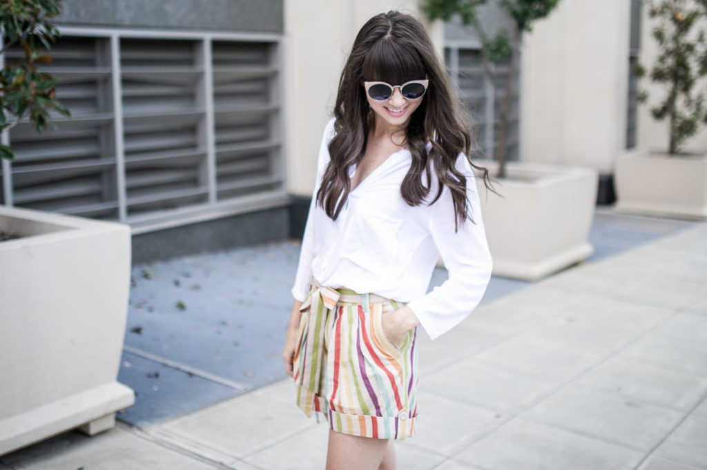 anthropologie striped shorts retro-3