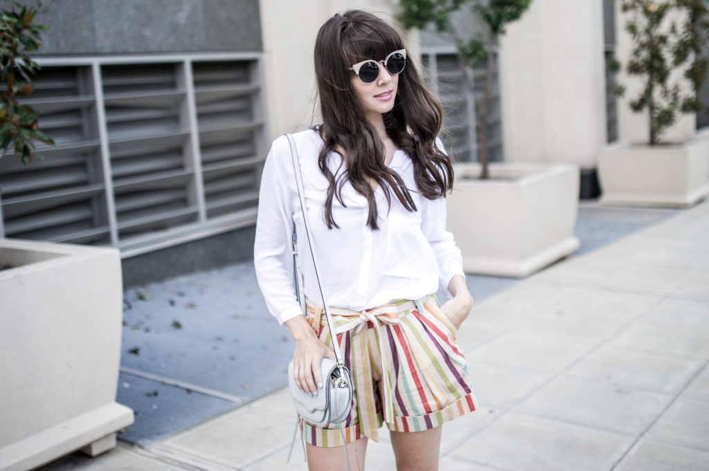 anthropologie striped shorts retro-4