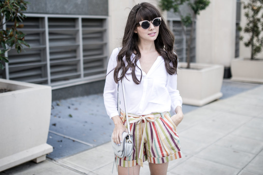 anthropologie striped shorts retro-5