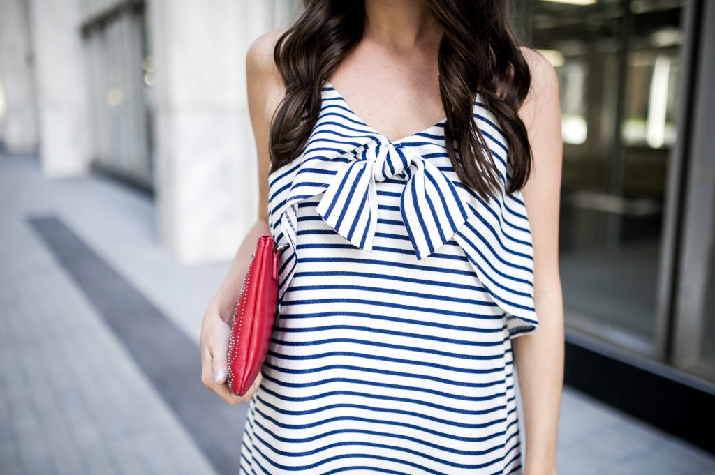 fourth of july outfit idea anthropologie bow dress-10
