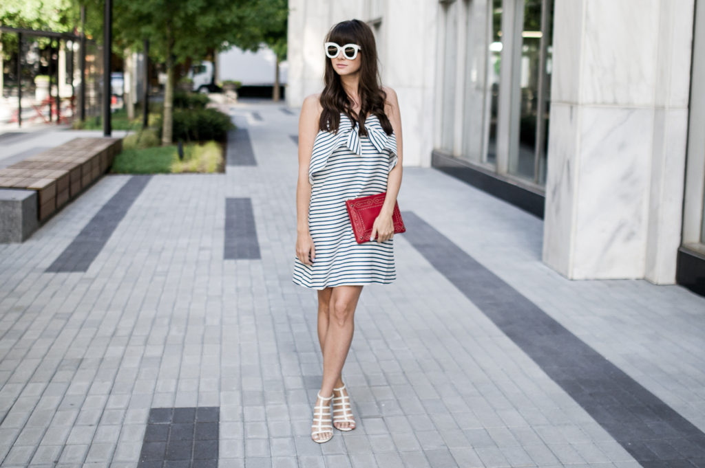 fourth of july outfit idea anthropologie bow dress