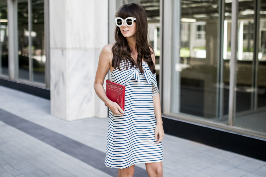 fourth of july outfit idea anthropologie bow dress-3