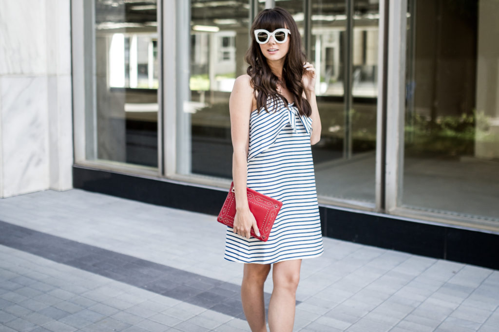 fourth of july outfit idea anthropologie bow dress-5