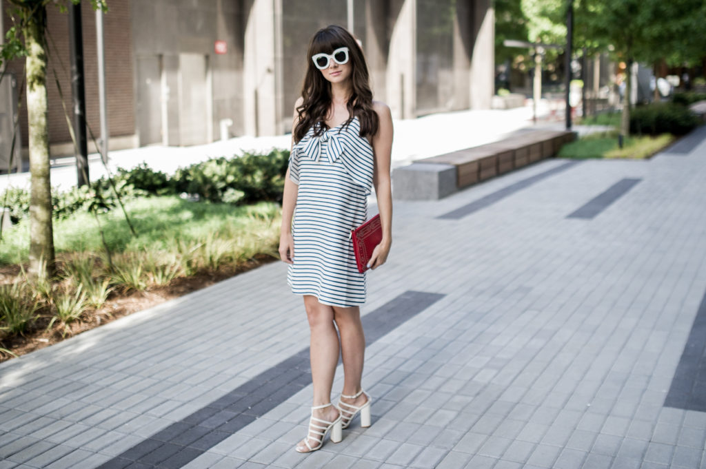 fourth of july outfit idea anthropologie bow dress-7
