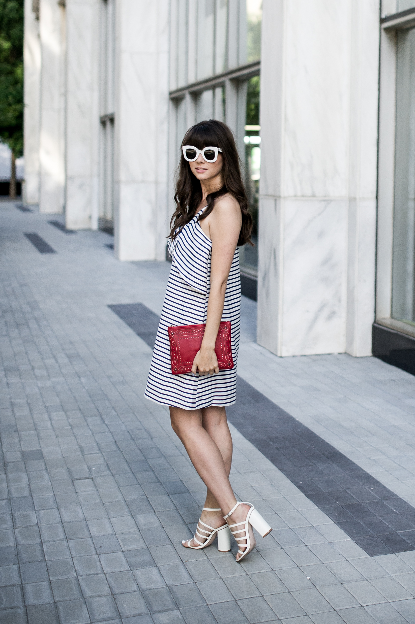 fourth of july outfit idea anthropologie bow dress-8