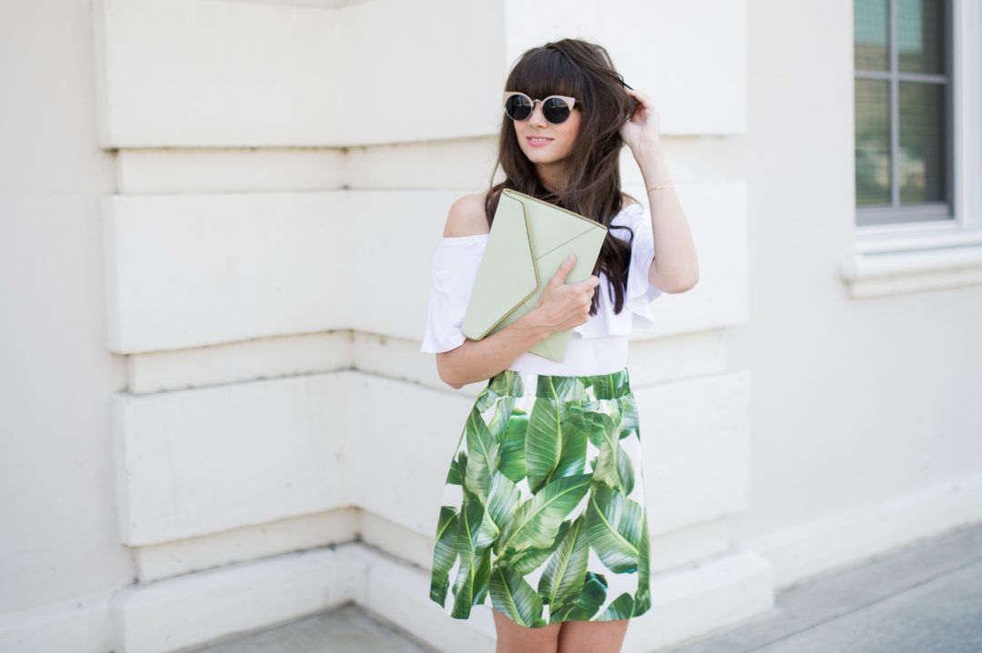 party skirts classic palm print-10