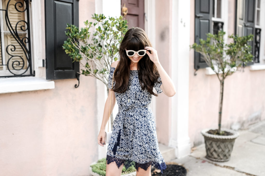 anthropologie blue greylin dress charleston