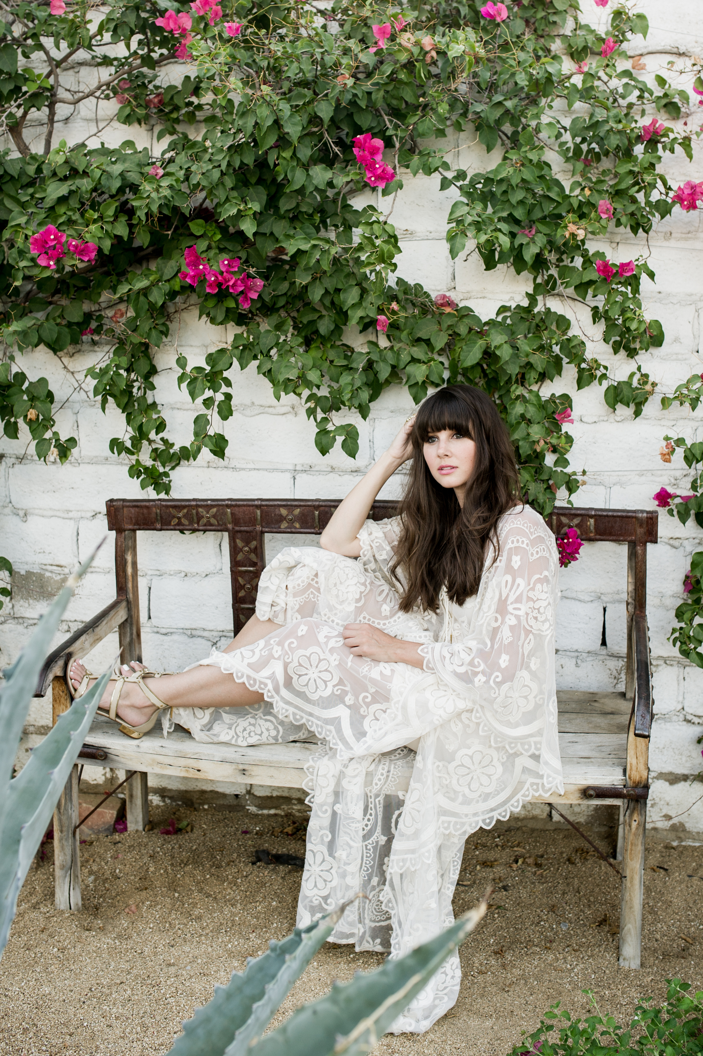 anthropologie white lace caftan palm springs-3