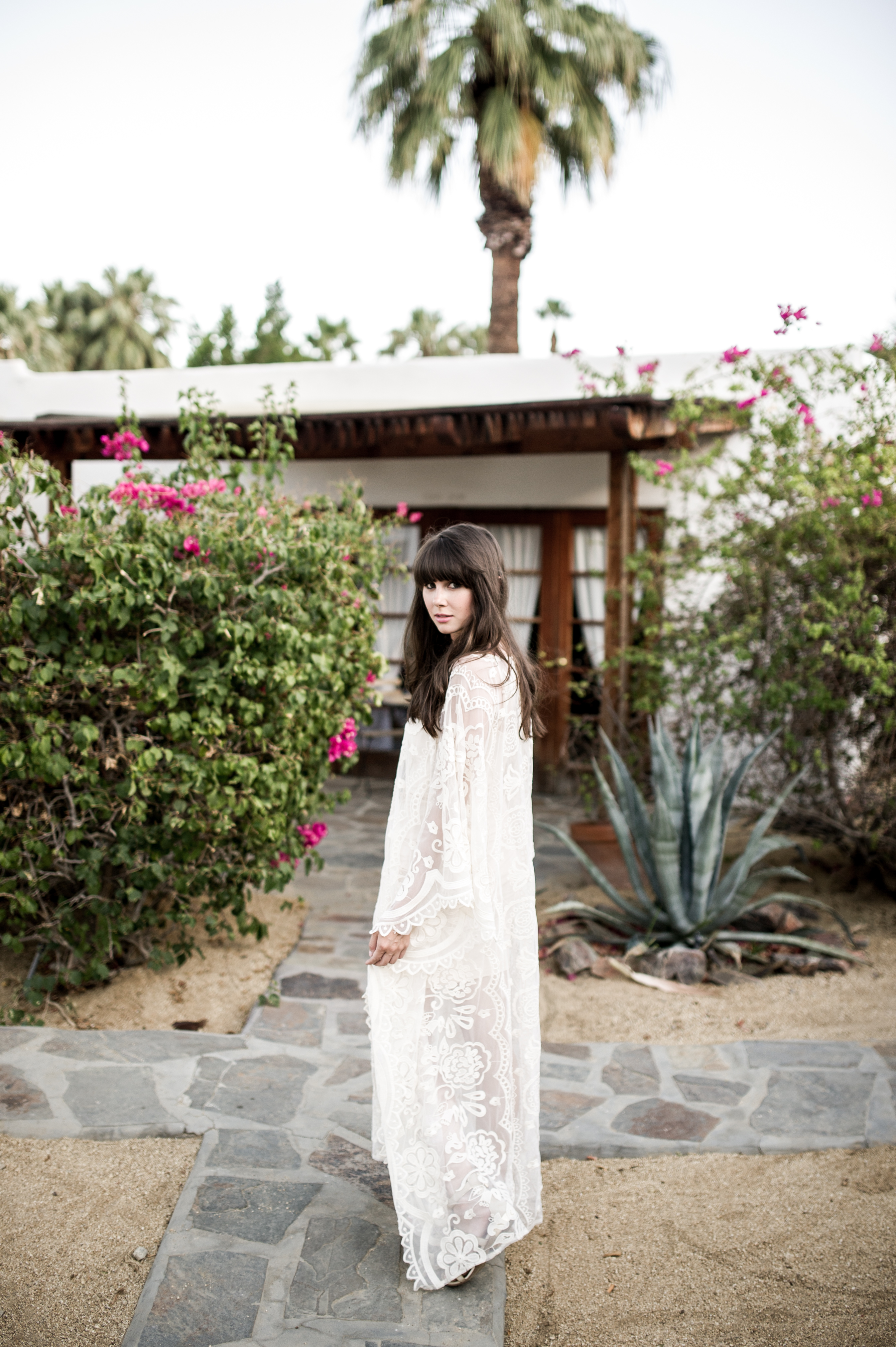 anthropologie white lace caftan palm springs-5