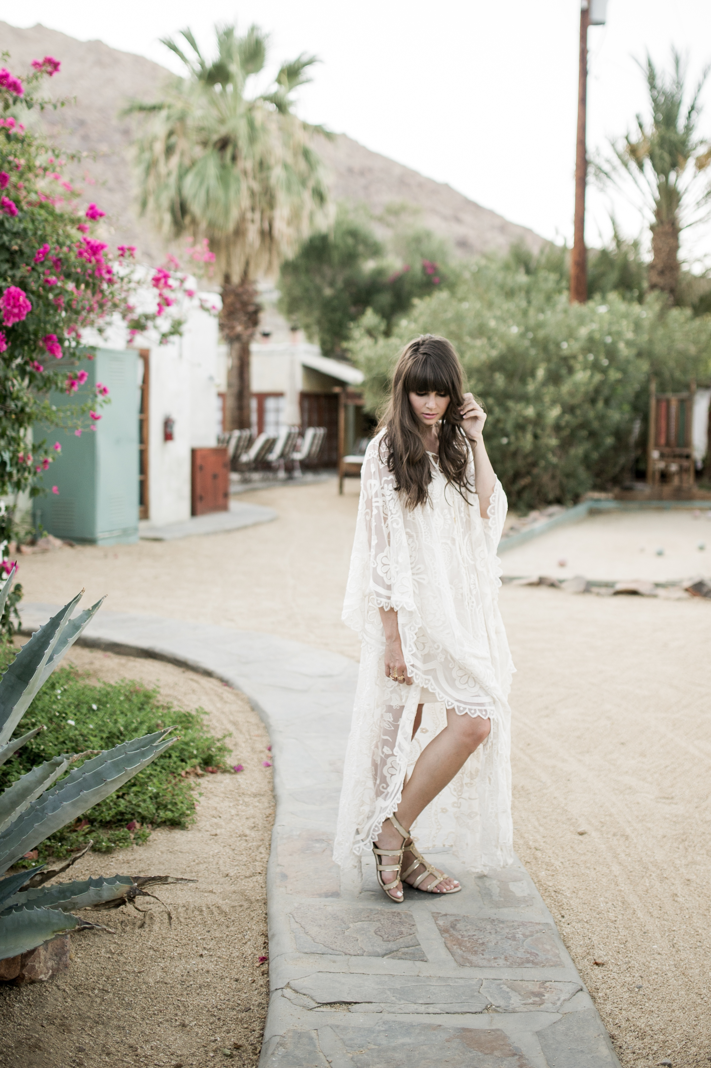 anthropologie white lace caftan palm springs-6