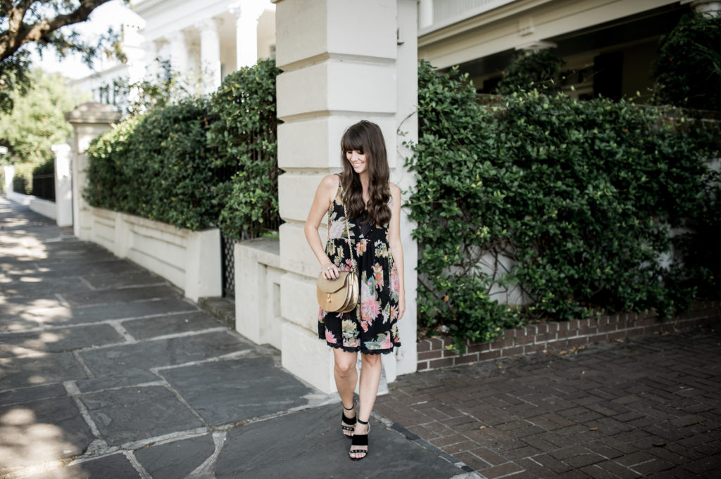 anthropologie floral dress charleston