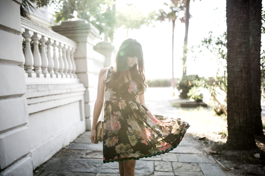anthropologie floral dress charleston-3