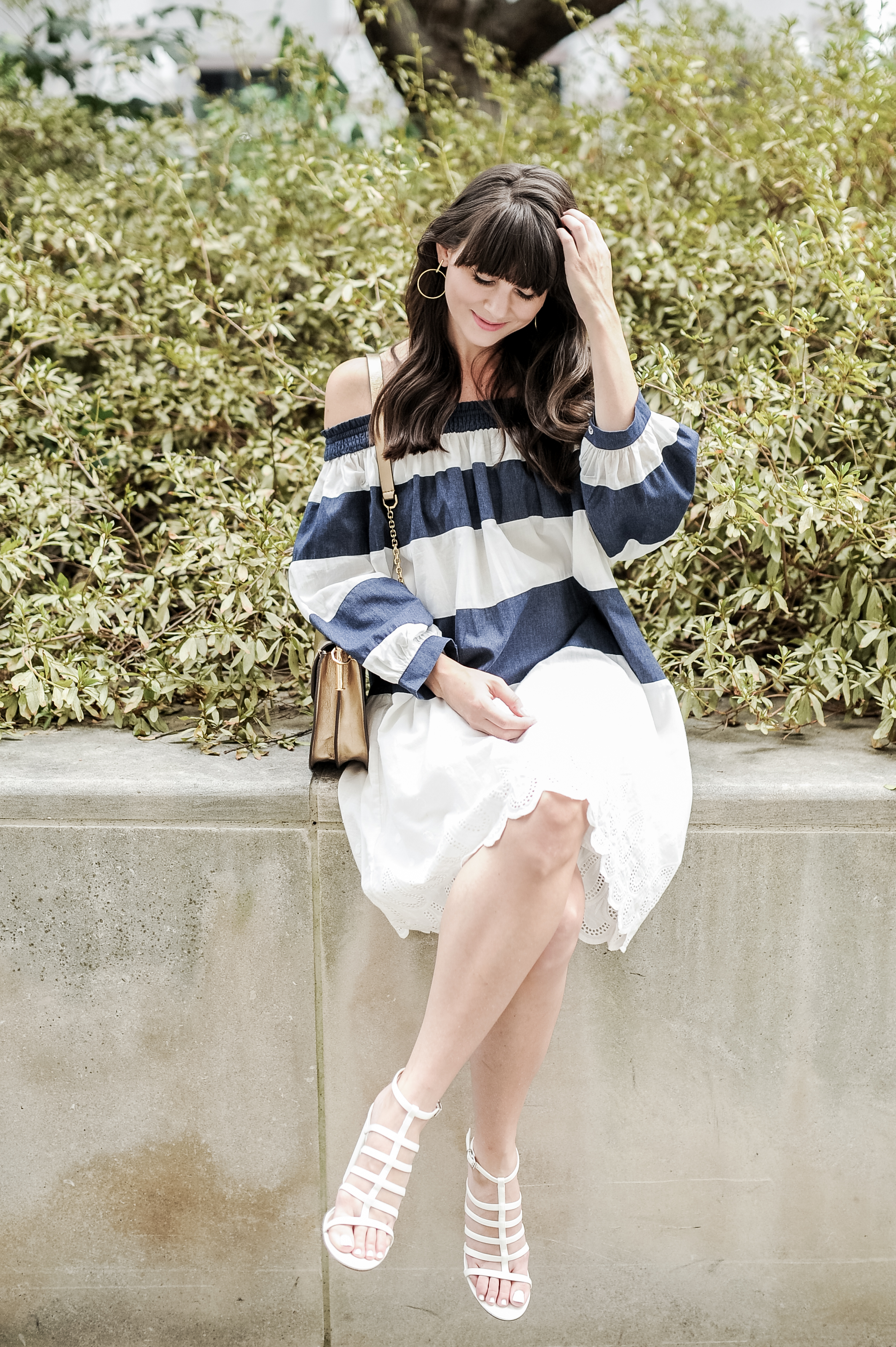 chicwish funfair navy stripe dress-4