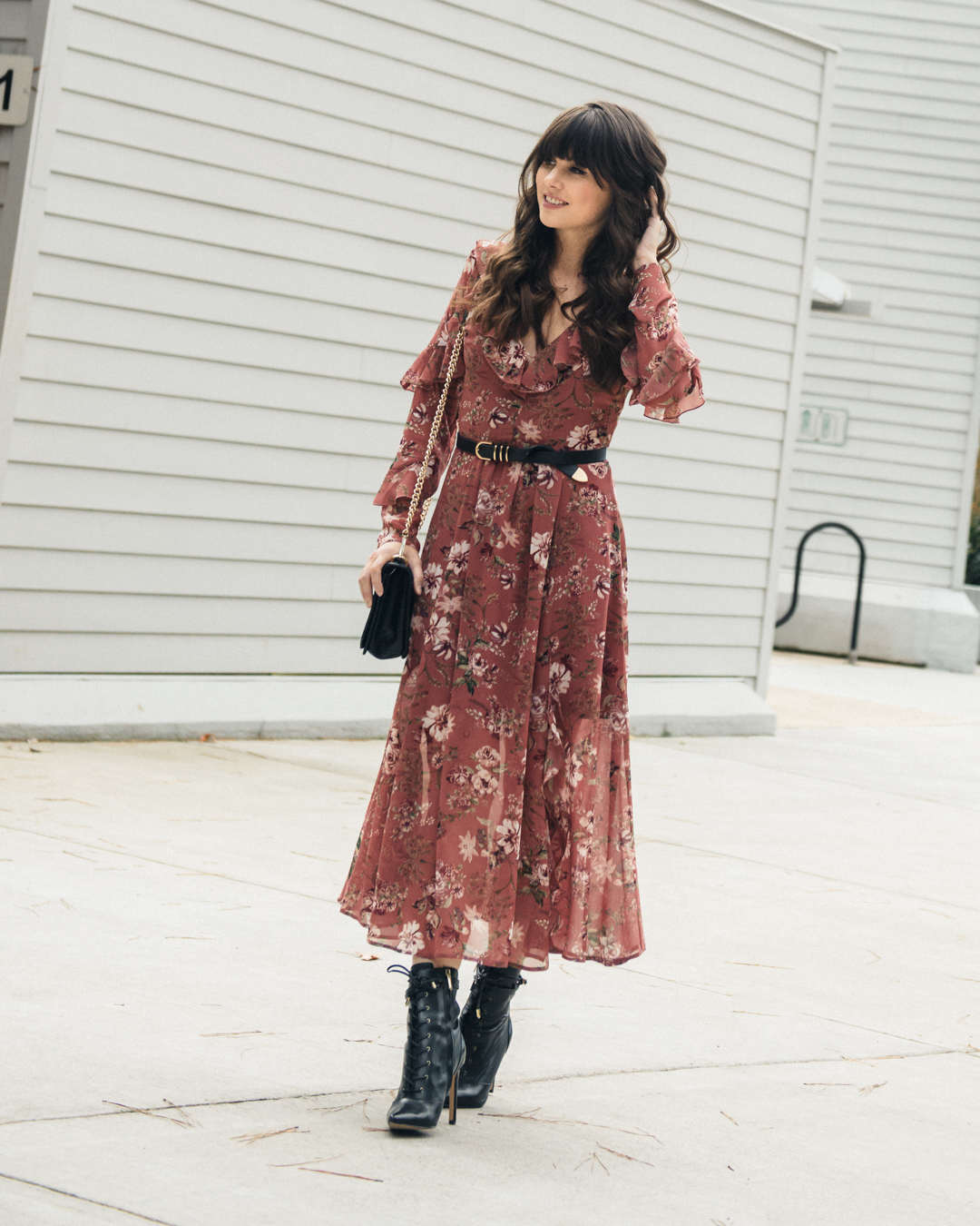 how to style floral dress