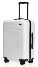 chic white suitcase for travel